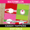 watermelon treat bag toppers