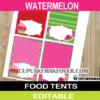 editable watermelon food labels