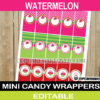 watermelon mini candy labels