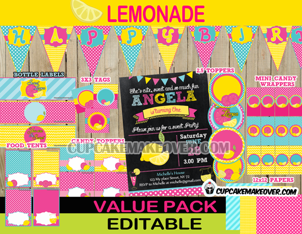 Pink lemonade party package