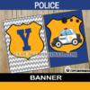police happy birthday banner