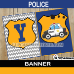 police happy birthday banner