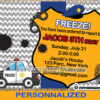 personalize police birthday party invitation card