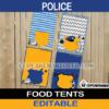 editable police food labels
