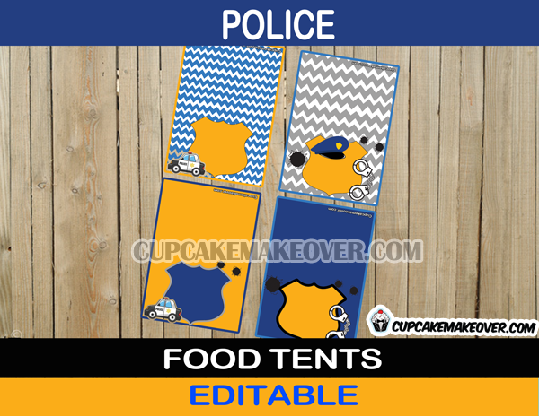 editable police food labels