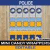 cops policeman mini candy labels