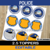 editable police cupcake toppers