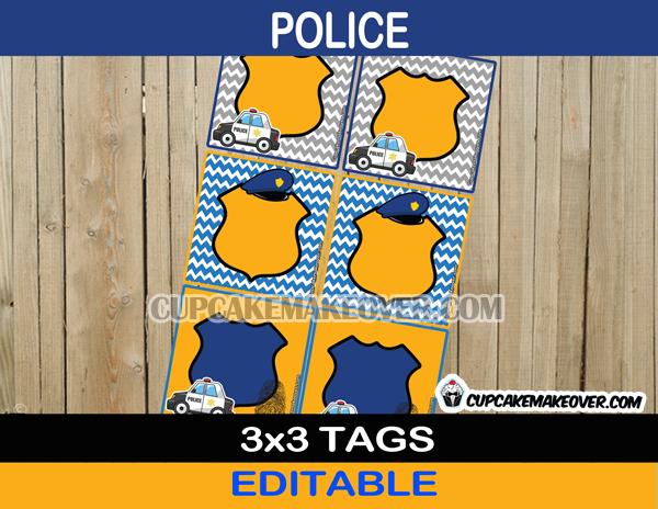 editable police favor labels