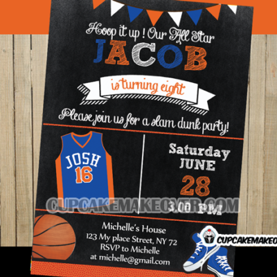 basketball birthday invitations