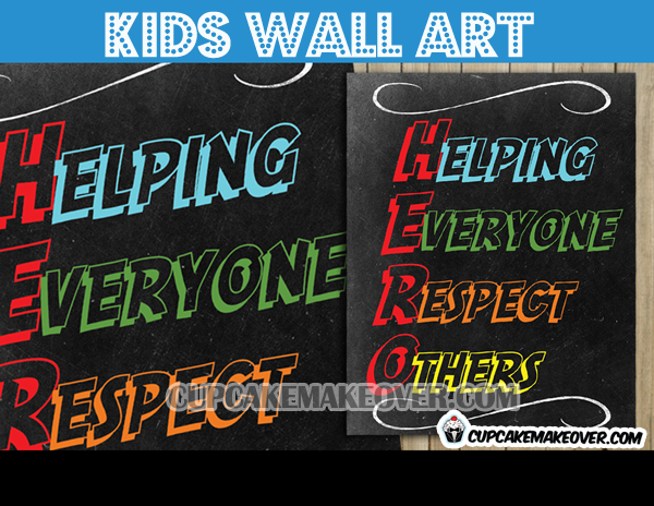 be a hero poster helping everyone respect others