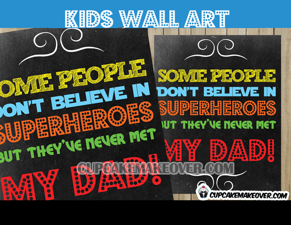 Gift for Super hero Dad Birthday Card