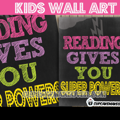 pink purple teachers students kids ready super powers wall art