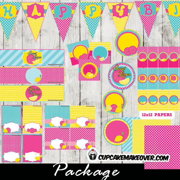 pink yellow blue lemonade birthday party decorations supplies package