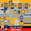 cops robbers police birthday package boys party themes
