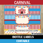 editable circus bottle labels