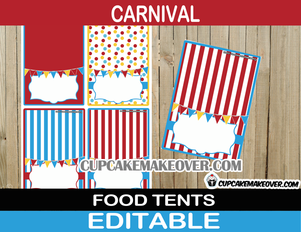 big top editable food labels