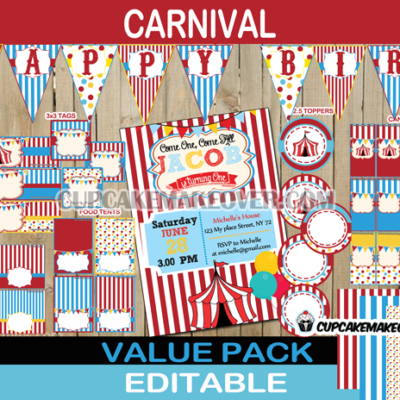 big top circus birthday package