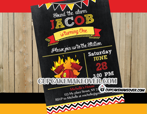 Firefighter Archives Cupcakemakeover – Firefighter Party Invitations
