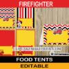 editable firefighter food labels