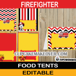 editable firefighter food labels