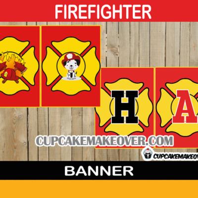 firetruck printable birthday banner