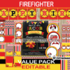firetruck firefighter birthday package