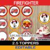 fire truck dalmatian firefighter cupcake decorations