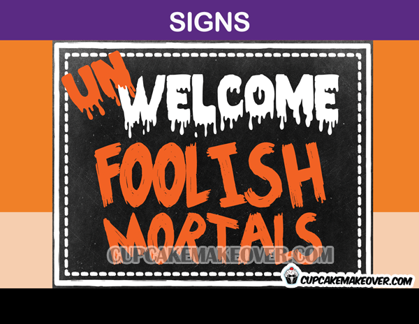 Halloween party decorations welcome sign