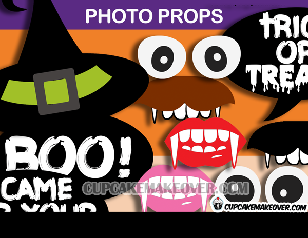 witch hat Halloween photo props signs