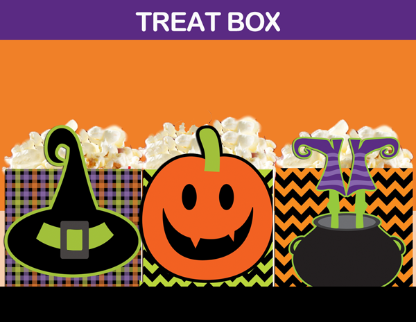 Halloween treat bag candy box