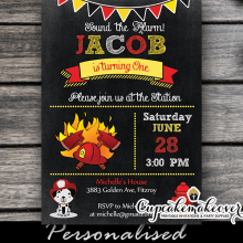 fireman party invitations firefighter birthday theme