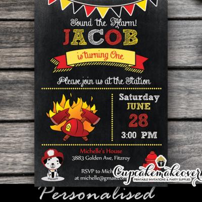 fireman party invitations firefighter birthday theme