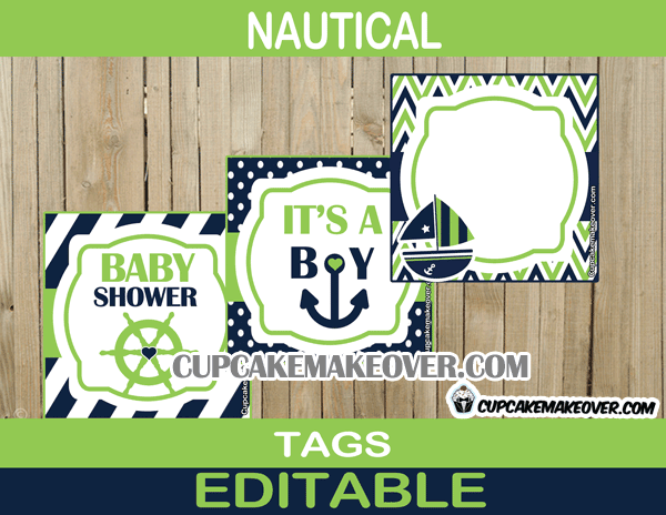 download image blue and green nautical baby shower pc android iphone