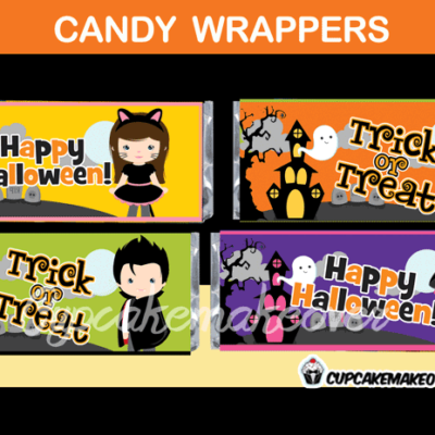 halloween party favors candy bar labels