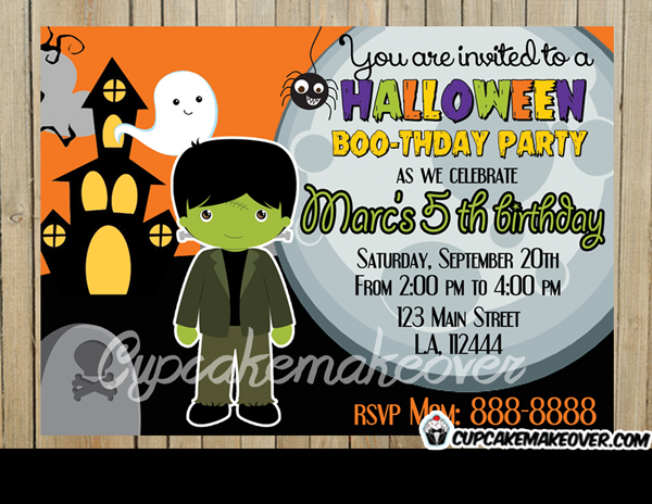 printable Halloween invitations for boys