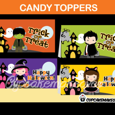 Printable Halloween Treat Bag Toppers
