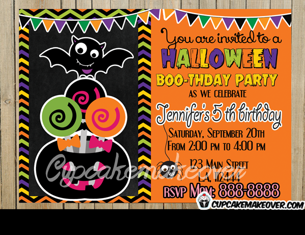 printable Halloween party invitations for kids