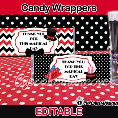 magic candy bar labels