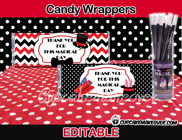 magic candy bar labels