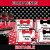 editable magic food labels