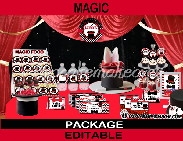 little magician printable birthday party package