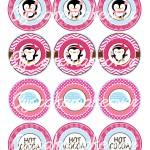 pink penguin labels Winter Wonderland Tags