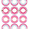 printable pink penguin cake toppers decorations