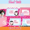 pink penguin Winter Wonderland Food Tents