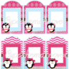 printable pink penguin gift tags