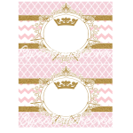 Gold and pink vintage princess