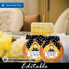 bumble bee baby shower favor tags food ideas