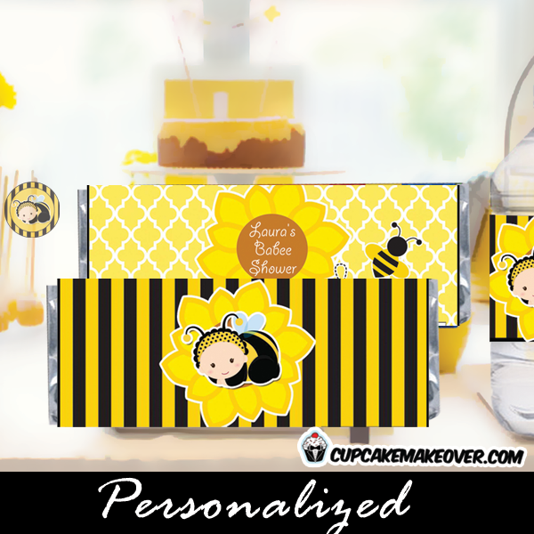 bumble bee Baby shower candy wrappers