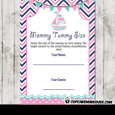 pink nautical baby shower games girl fun ideas