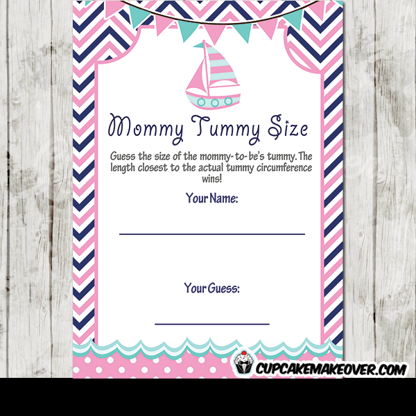 pink blue nautical baby shower games